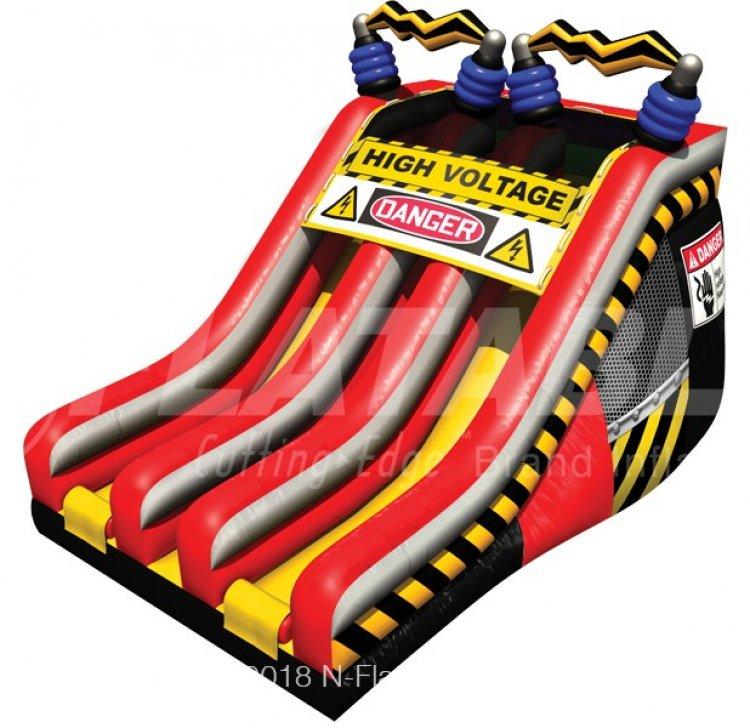 18ft High Voltage Dual Lane Slide