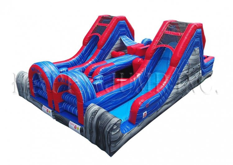 Double Lap Obstacle Challenge with Slide